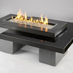 Outdoor GreatRoom - Outdoor GreatRoom Uptown Fire Pit Table - 80k BTUs Multicolor - UPTOWN-1242-K - Shop for Fire Pits and Fireplaces from Hayneedle.com! Modern patio decors call for a mod marvel like the Outdoor GreatRoom Uptown Fire Pit Table. You ll love how this fire pit table features a granite supercast and outdoor-grade stucco finish not to mention how the clean angular body conceals the liquid propane tank (not included) so neatly. Up top the stainless steel fire pit burner measures 12 x 42 inches and comes complete with glass fire beads. A center burner cover and natural gas conversion kit also comes included.About Outdoor GreatRoom CompanyWith over 50 patents to its name the Outdoor GreatRoom Company is one of the most innovative names in gas fireplaces and outdoor design period. Since 1975 Dan Ron Steve and Ger have produced a yard of amazing products like the Heat-N-Glo that have changed the industry. In fact they want to change the way you think about your backyard or patio. It's about bringing the luxury and comfort of the living room outside to make an Outdoor Room. They want you to literally think outside the box. To make that beautiful concept a reality Outdoor GreatRoom designs manufactures and sells pergolas outdoor kitchens grills outdoor furniture fireplaces fire pits lighting and heating products. There's no better name in outdoor leisure than this fine Minnesotan company.