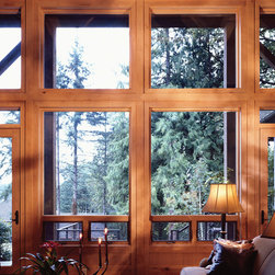 Windows - Create floor to ceiling drama when you enclose an entire wall with high-performance wood windows and doors from Andersen.