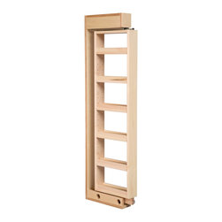 """Century Components - Century Components WCF342PF Pull-Out Wood Wall Cabinet Filler - 3"""" x 42"""" - Wall Filler Cabinet Organizer - 3""""W x 42""""H x 11""""D. This unit is designed to fit between two existing cabinets to create functional use of this space. The unit features 5 adjustable shelves, full extension slides, and soft close slide action. Century Components WCF342PF is made from solid maple with a clear natural finish for great appearance, quality and durability."""