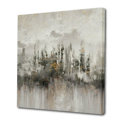 "Begin Home Decor - ""Many Shades Of Grey"" Printed Canvas, Abstract Painting Printed Canvas, 36x36 - Contemporary gallery wrapped canvas 36 inch x 36 inch. This high-quality giclee print captures those colors so vividly, the brushstrokes still look wet."