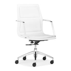ZUO MODERN - Luminary Low Back Office Chair White - Luminary Low Back Office Chair White