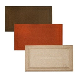 Home Dynamix/division Of Emerem,inc - Camden Floor Mat - Simple and lovely, this all-purpose floor mat is great for use in the kitchen or anywhere else in the house. It's low-profile design makes opening doors near it easy and it features a non-skid, SBR-backing.