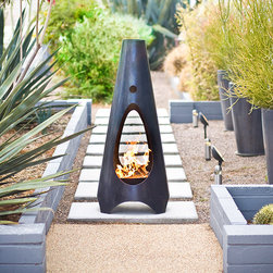 Urban Campfire/Fireplace Steel, Modfire - An outdoor fireplace, such as this, has been on my wish list for a while. S'mores anyone? That's the first thing that came to my mind. This firepit is beautiful and equally practical.