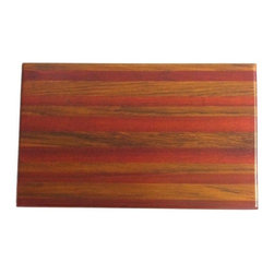 "Exotic Chopping Blocks - 8"" x 12"" Cutting Board - This board is elegant in its simplicity, yet rich because of the woods in it. These woods include Brazilian Cherry, which is the red wood and Burmese teak, which is the green wood. Both the woods are their natural colors. There has been no paint or stain added."