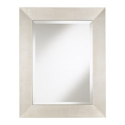"""Lamps Plus - Contemporary Brondby Silver Finish 36"""" High Rectangular Wall Mirror - Make a refined statement with a simple classic rectangular wall mirror. The antiqued silver foil finish fir wood frame goes with decor ranging from contemporary to traditional. The straightforward look bears a classic elegance and can be mounted horizontally or vertically to your liking. Antiqued silver finish. Fir wood frame. Vertical or horizontal mount. 36"""" high. 28"""" wide. Extends 1 1/2"""" from the wall. Hang weight 19 1/2.  Brondby  rectangular wall mirror.  Fir wood frame.  Antiqued silver foil finish.  Vertical or horizontal mount.  36"""" high.  28"""" wide.  Extends 1 1/2"""" from the wall.  Hang weight 19.5 pounds.  Mirror only is 19"""" wide and 27"""" high."""