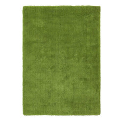 Surya - Plush Heaven 8'x11' Rectangle Fern Green Area Rug - The Heaven area rug Collection offers an affordable assortment of Plush stylings. Heaven features a blend of natural Fern Green color. Handmade of 100% Polyester the Heaven Collection is an intriguing compliment to any decor.