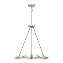 Quoizel Lighting - Quoizel Uptr5007 7 Light Up Down Lighting Chandelier - Imperial Silver - This up / down lighting chandelier from the Uptown Theater Row collection by Sergio Orozco features a striking but simple design. This kind of dedication, integrity and quality not only goes into the design of their products, but it's in the way they do business as well.