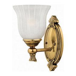 Hinkley Lighting - Hinkley Lighting 5580BB Francoise Burnished Brass Wall Sconce - Hinkley Lighting 5580BB Francoise Burnished Brass Wall Sconce