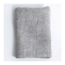 Linen Chambray Towel, Gray - Made of thick chambray weave linen, this lovely towel is both long lasting and absorbent. I love the soft texture.