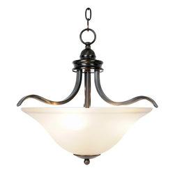 Premier - Three Light Sanibel 17.5 inch Pendant Fixture - Oil Rubbed Bronze - Premier 617271 17-1/2in. W by 16-1/2in. H Sanibel Lighting Collection 3 Light Pendant, Oil Rubbed Bronze.