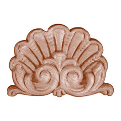 Superior Moulding of Nevada - 684 Embossed Wood Applique - Decorative wood onlays and appliques, are decorative ornaments useful for bringing visual interest to flat areas. Embossed wood onlays and appliques are often used to decorate fireplace mantels, stove or range hoods and cabinetry headers.