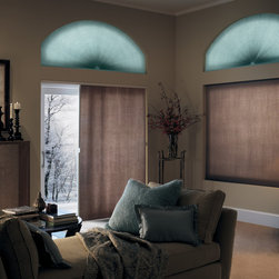 Cellular Shades - Bali's DiamondCell Light Filtering Honeycomb Shades are offered in a wide variety of materials and colors, with many upgrades to choose from. These beautiful shades stack compactly when opened, and provide complete privacy when closed, while gently filtering the light into the room. Available in both single and double cell, these shades are available in a beautiful palette of home-friendly colors; all come with a neutral white backing for a uniform appearance outside.