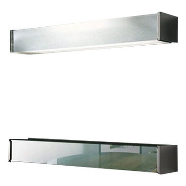 """Oluce - Oluce Universal 109 Wall Light - The Universal 109 Wall Light was designed and made by Marta Laudani and Marco Romanelli in 2007. This contemporary wall light is a practical, simple and functional lamp available in two versions, one with black structure and stop sol diffuser and the second with white structure and sand-blasted glass diffuser. Universal provides a direct and diffused light and is made of chromium-plated aluminium. Illumination is provided by one G5, 2xmax39W Halogen bulb (not included). This high quality wal light is made in Italy and features the highest standards in materials and craftmanship.         Product Details: The Universal 109 Wall Light  was designed and made by Marta Laudani and Marco Romanelli in 2007. This contemporary wall light is a practical, simple and functional lamp available in two versions, one with black structure and stop sol diffuser and the second with white structure and sand-blasted glass diffuser. Universal provides a direct and diffused light and is made of chromium-plated aluminium. Illumination is provided by one G5, 2xmax39W Halogen bulb  (not included). This high quality wal light is made in Italy and features the highest standards in materials and craftmanship.  Details:                         Manufacturer:            OLUCE                            Designer:            Marta Laudani and Marco Romanelli                            Made in:            Italy                            Dimensions:                        Length: 35.4""""(90cm) X Height: 3.1""""(8cm)                                         Light bulb:                        G5, 2xmax39W Halogen bulb (not included)                                         Material:            Metal,  Glass"""