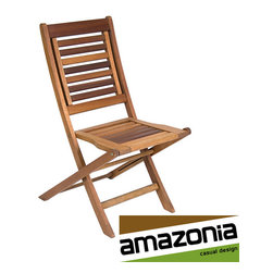 Amazonia - Parati Folding Chair (Set of 2) - Keep extra seating around for entertaining outside with this two-piece wooden folding chair set from Parati. Each chair is crafted from eucalyptus wood that has been treated with fungicide and insecticide for worry-free use in your backyard.