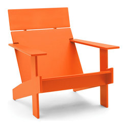 Loll Designs - Lollygagger Lounge, Sunset Orange - Sometimes there's nothing wrong with letting the day get away from you. Grab a book and glide back into this breezy lounge chair. Its angled design nestles you in comfort, confirming that you're doing exactly the right thing.