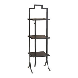 French Heritage - FOLD-Table Large Square, Black Finish - Have you ever needed just two or three more shelves for storage or just the perfect little piece beside a chair? FOLD-Tables comes in an array of styles, colors, and sizes. These exciting little tables are practical, versatile and can fold away if desired. Whether your style is contemporary, romantic or industrial, everyone can use a FOLD-Tables. - Weight: 23lbs