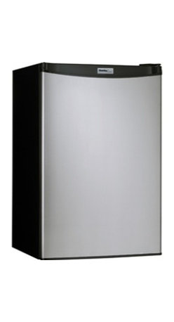 Danby - 4.4 CF Compact Refrigerator - Black with Spotless Steel Door - 4.4 cu. ft. (126 L) capacity compact fridge