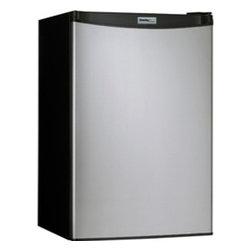Danby - 4.4 CF Compact Refrigerator - Black with Spotless Steel Door - 4.4 cu. ft. (126 L) capacity compact fridge