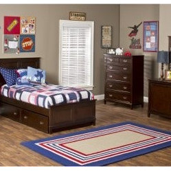 Nantucket Storage Bed Espresso Designed To Grow With