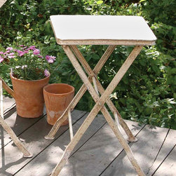 Luxembourg Table - Square - A perfect little table to set drinks on the outside patio, the Luxembourg table is totally versatile and ready to be used for whatever your heart desires it for. Whether used as a plant stand, side table or TV tray, the Luxembourg's simple design makes it fit with many styles of decor in many different design spaces.