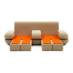 Dynamic Life Convertible Sofa Bed - This is an ultra-creative Italian concept for a sofa that opens up into two sleeping sections. It's sort of part chaise and part art bed, but it definitely does the trick.
