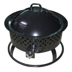 Bond - Bond 66602 Durango Portable Gas Fire Pit - The Durango Steel Gas Fire Pit is the camp fire on the go! Great for your own back yard or take it with you to the big game for a tailgate party, or even camping at the lake for a safer alternative to traditional campfires. This steel constructed pit is sturdy enough to go anywhere. Youll wonder how you ever got along without it!
