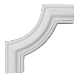 "Ekena Millwork - 10 1/2""W x 10 1/2""H Pompeii Panel Moulding Corner - 10 1/2""W x 10 1/2""H Pompeii Panel Moulding Corner. Our beautiful panel moulding and corners add a decorative, historic, feel to walls, ceilings, and furniture pieces. They are made from a high density urethane which gives each piece the unique details that mimic that of traditional plaster and wood designs, but at a fraction of the weight. This means a simple and easy installation for you. The best part is you can make your own shapes and sizes by simply cutting the moulding piece down to size, and then butting them up to the decorative corners. These are also commonly used for an inexpensive wainscot look."