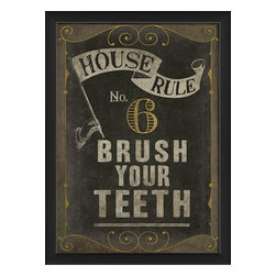 The Artwork Factory - House Rule No 6 Framed Artwork - Ready-to-Hang, 100% Made in the USA, museum quality framed artwork