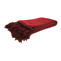 "Pur by Pur Cashmere - Signature Blend Throw Claret  50""x65"" - Not your mother's throw. 100% modal Dry clean only. Inner mongolia."