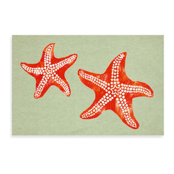 Liora Manne Starfish Mat - Keep the summer alive long after the temperatures have cooled off with this starfish mat. Bonus: The coral and mint color scheme will brighten even the gloomiest of days.