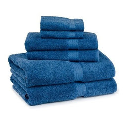 Cambridge Contessa 6 pc. Towel Set - Stylish color options and 100% cotton construction make the Cambridge Contessa 6 pc. Bath Towel Set just what your bathroom needs. An upgrade for your bath, this towel set is crafted of 100% cotton to be durable as well as ultra soft. It comes in a range of vivid colors to match or contrast your bathroom. It includes two bath towels, two hand towels, and two washcloths. Bath towel: 54 x 27 in.Hand towel: 28 x 16 in.Washcloth: 13 x 13 in.About Cambridge Towel CorporationCambridge Towel Corporation is the largest manufacturer of terry products in Canada. Priding themselves in quality, color and design, and customer satisfaction, Cambridge designs and manufacturers all of their products, including towels, bath accessories, shower curtains, and bath rugs. This reliable company distributes nationally and internationally to retail stores and hotels. Centrally located in Cambridge, Ontario, Cambridge Towel Corporation also has a distribution center in Hamilton, Ontario.