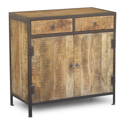 Timbergirl - Reclaimed wood Sidboard with drawers - Rough and smooth come together in this intriguing industrial collection. Our Sideboard made of Rough sawn mango wood is handcrafted and transformed into something beyond the traditional with its solid iron frame. Meant to be admired for years to come.