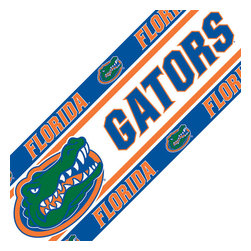 Sports Coverage - NCAA Florida Gators College UF Self-Stick Wall Border - Features: