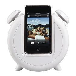 MP3 Alarm Clock Docking Station and Speakers - This combination alarm clock/iPod charger with speakers is just perfect for your tune-loving kid.