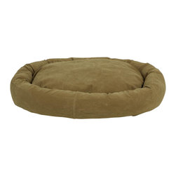 Carolina Pet Company - Microfiber Bagel Bed, Sage, 36 X 27 X 4 - 360Degreesof velvety microfiber wraps your pet in luxury.  Reversible pillow insert.  Zipper removable covers for easy care.  Machine washable.  100% high loft poly fill.