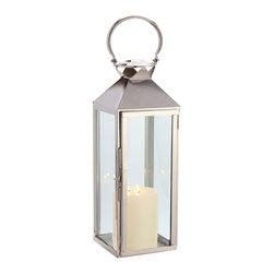 "Riado - Classic Mogador Lantern 7.5 x 21"" PN - Minimalism! These traditional style lanterns are found all over the luxury homes and hotels and are great to light the entrance, the yard, or simply cluster around the pool, at sunset."