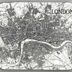 London Map Vintage Image Mouse Pad by Txaltered Art - Lots of my clients love using vintage maps as decor, especially when they reference a place that is special to them. I love this one in black and white.