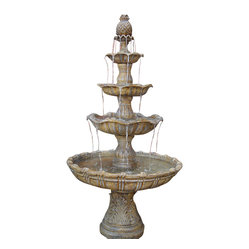 4-Tier Grand Courtyard Fountain