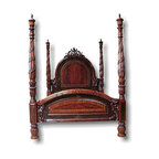 EuroLux Home - New King Poster Bed Lavish Carved Pierced - Product Details