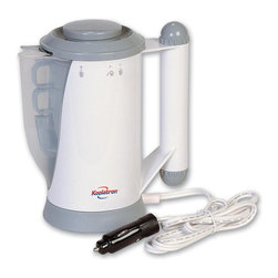 Koolatron - 12 Volt Auto Beverage Heater & Baby Food Warmer - Includes 12-volt auto beverage heater, 2 coffee cups, mesh filter and baby food stand with spoon and fork. A convenient solution to keep beverage warm at desk, in a car and in office. Plugs into 12 volt cigarette lighter socket. Ideal for heating water for instant coffee, tea hot soup mixes and instant noodles. Keeping the beverage hot in cups, mugs and even baby bottles. A good companion for vacationers or travelers