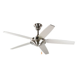 "Progress Lighting - Progress Lighting 54"" Signature Plus Energy Star Transitional Ceiling Fan X-90-0 - Energy Information at High Speed"
