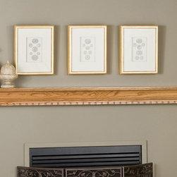 Covington Fireplace Mantel Shelf - The simple and elegant pattern of the Covington Wood Fireplace Mantel Shelf combines classic and modern accents for a gorgeous fireplace mantel shelf. -Mantels Direct