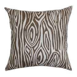 "The Pillow Collection - Thirza Swirls Pillow Italian Brown 18"" x 18"" - Reinvent your home with this rich throw pillow. This accent pillow is durably made to last for a long time. Place this pillow anywhere inside your home and make it a major statement piece. This decor pillow features a bold pattern in brown and white. Mix and match this square pillow with other bold patterns like geometric, stripe, plaid and more. Measures 18"" and made from 100% high-quality cotton fabric. Hidden zipper closure for easy cover removal.  Knife edge finish on all four sides.  Reversible pillow with the same fabric on the back side.  Spot cleaning suggested."