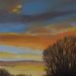 Sunset In Mesquite (Original) by Marino Chanlatte - I saw this sunset and I couldn't avoid to painting it.  I loved it.