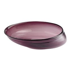Cyan Design - Purple Oyster Bowl - Small - Small purple oyster bowl - purple