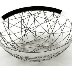 "WMF - WMF Fruit Living Basket Chaos - 27 wires are bent by hand to form a unique space for all sorts of fruit as well as other decorative objectsEntire piece made of quality Cromargan 18/10 stainless steel Designed by Metz & Kindler Product Design Studio in DarmstadtDimensions: 11-3/4"" diameter"