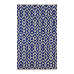 Fab Habitat - Fab Habitat - Indoor Cotton Rug - Samsara - Indigo & Natural, 2' X 3' - Fab Habitat brings you a stylish collection of rugs made from recycled cotton. These handcrafted flat weave cotton rugs have subtle elegance with simple and classic designs. They are perfectly suited to bring comfort to a modern space. The rugs are made to withstand everyday use and are extremely easy to take care of. These rugs are made using sustainable practices and dyes, which are safe for the environment.