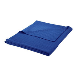 Cotton Blanket (Diamond) Full/Queen 88 x 90 - Merritt Blue - Wrap yourself in pure comfort with this all season 100% cotton blanket. This blanket is ideal for year-round use and comes in a variety of colors. The blanket features a marvelous diamond pattern and has a self-binding hem for increased durability. Dimensions: Blanket 88x90.