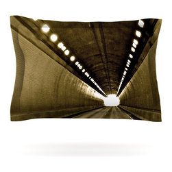"""Kess InHouse - Maynard Logan """"Tunnel"""" Pillow Sham (Woven, 30"""" x 20"""") - Pairing your already chic duvet cover with playful pillow shams is the perfect way to tie your bedroom together. There are endless possibilities to feed your artistic palette with these imaginative pillow shams. It will looks so elegant you won't want ruin the masterpiece you have created when you go to bed. Not only are these pillow shams nice to look at they are also made from a high quality cotton blend. They are so soft that they will elevate your sleep up to level that is beyond Cloud 9. We always print our goods with the highest quality printing process in order to maintain the integrity of the art that you are adeptly displaying. This means that you won't have to worry about your art fading or your sham loosing it's freshness."""