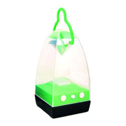 CMI - Battery-Operated LED Dome Lantern w Handle in Green - A contemporary take on traditional lanterns, this LED powered dome has vibrant color and superior performance. Battery-operated lantern is perfect for kids rooms and also makes a great party accent. It has a contoured handle and bright green finish to complete the look. Battery-Operated. Batteries not included. 3.14 in. W x 3.14 in. D x 7.87 in. H (38 lbs.)
